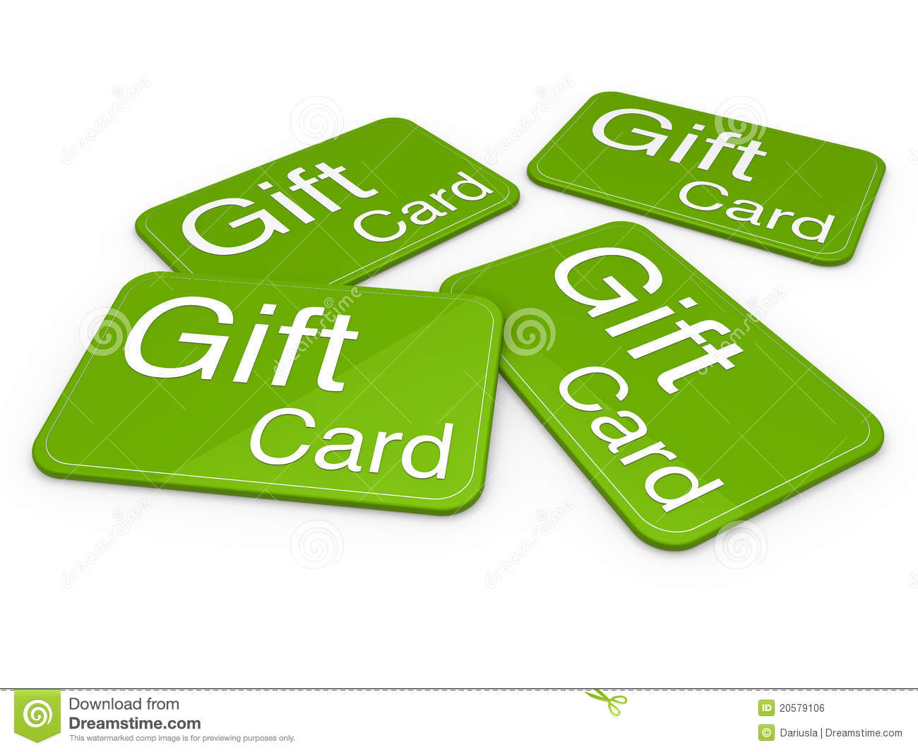 3d Gift Card Green Royalty Free Stock Image - Image: 20579106