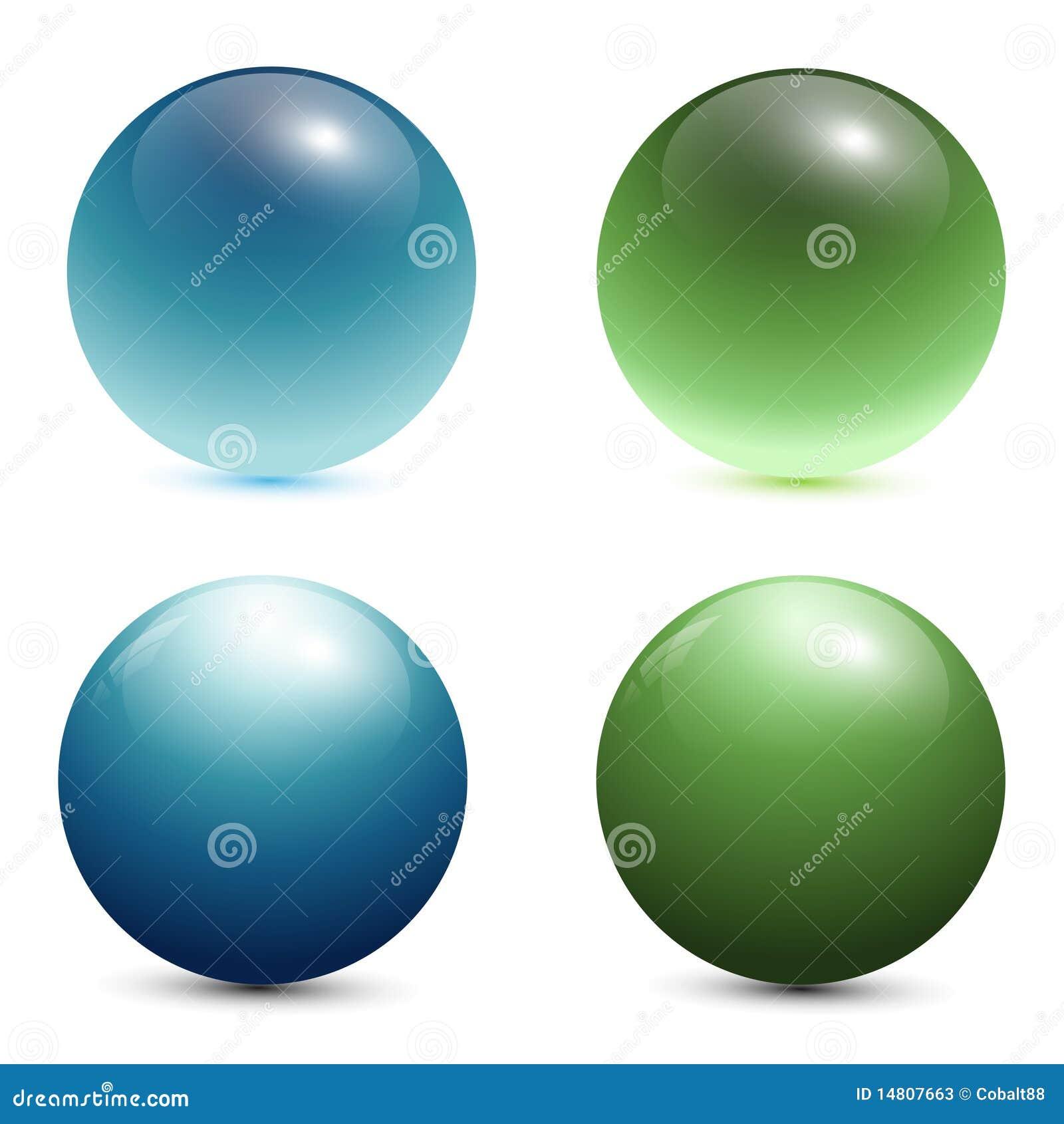 3D glass spheres