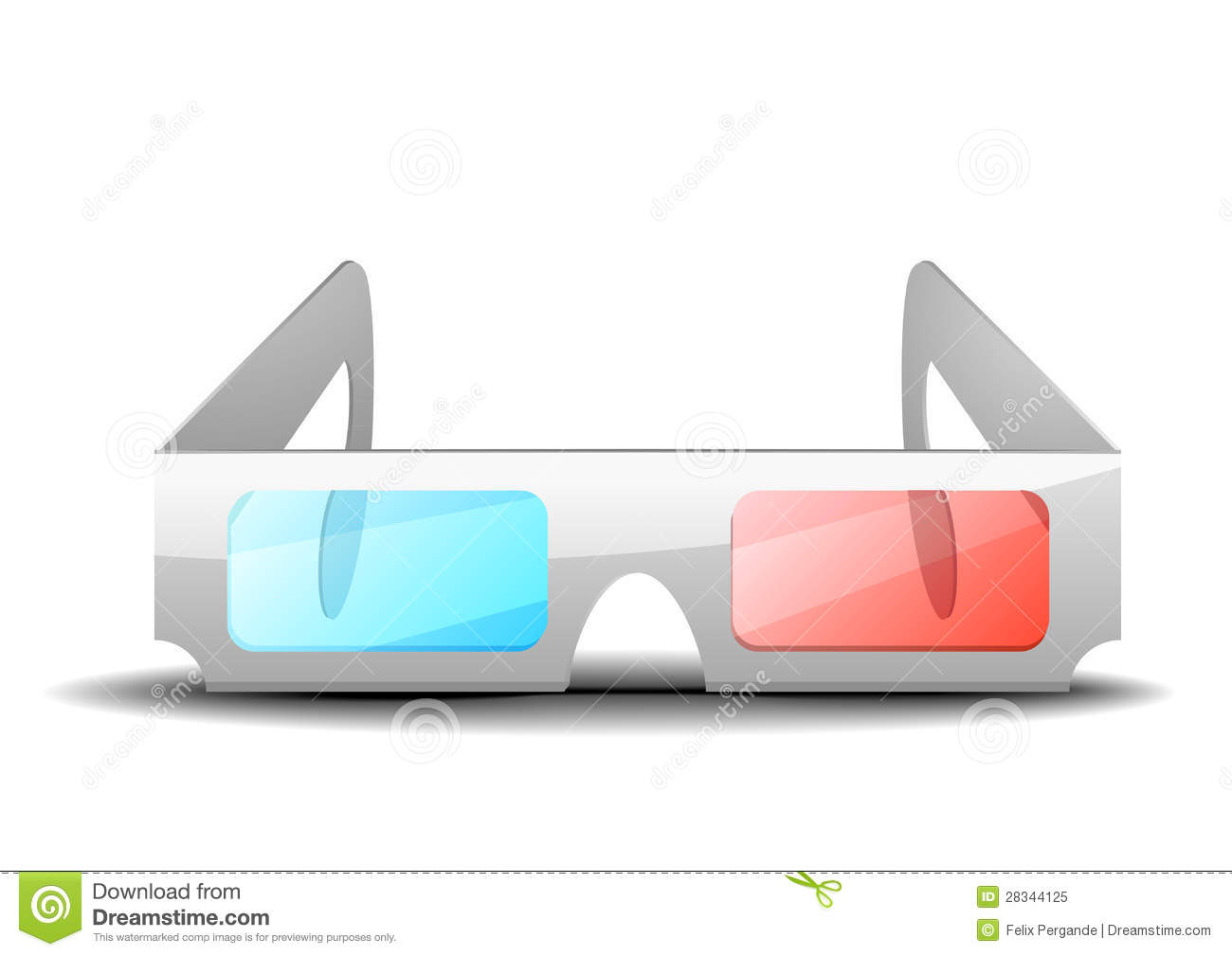 3D Glasses Royalty Free Stock Photo - Image: 28344125