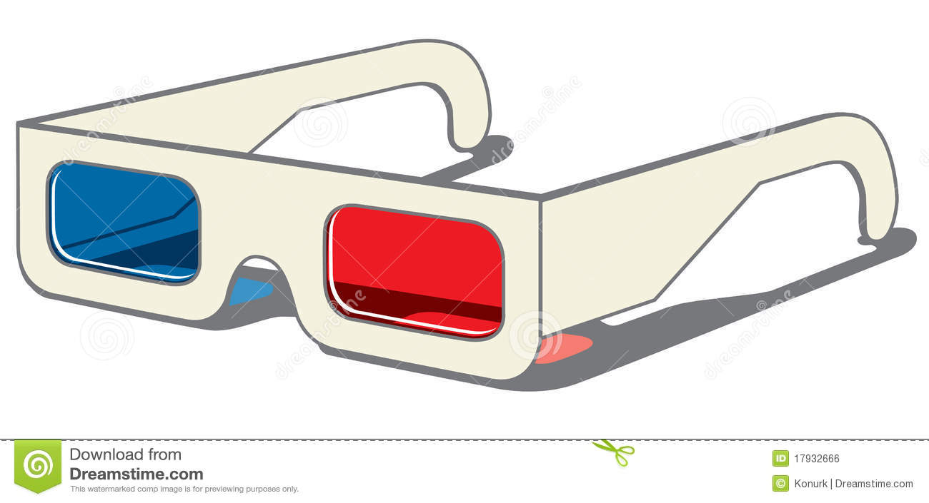 3D Glasses - Side View Royalty Free Stock Image - Image ...
