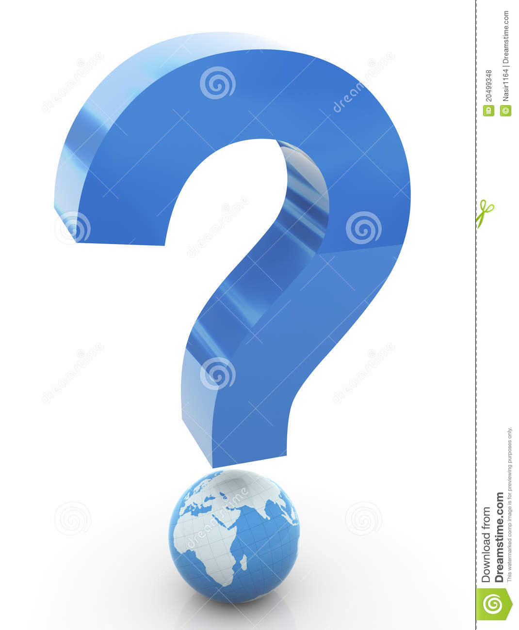 3d Global Question Mark Royalty Free Stock Photos Image