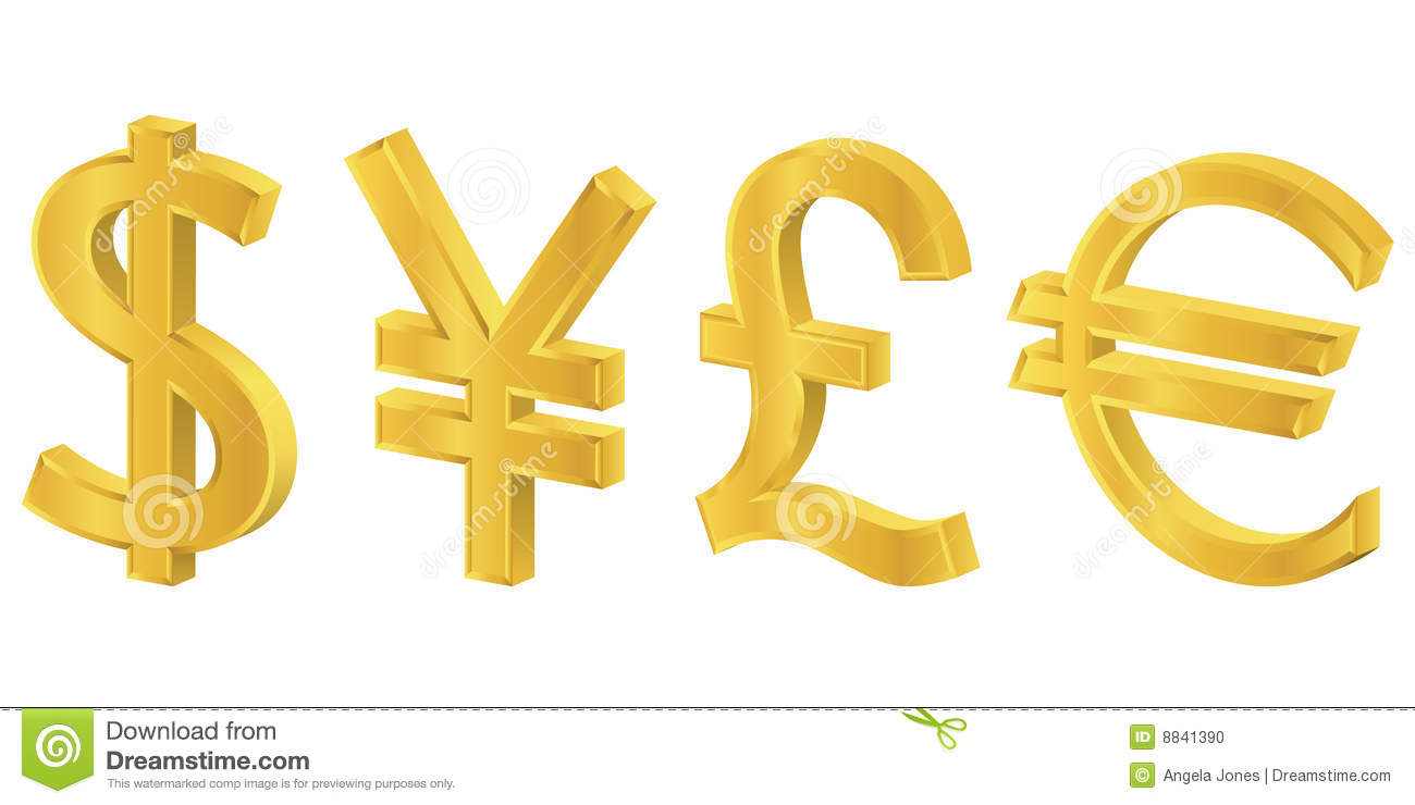 3d gold currency symbols stock vector illustration of american 3d gold currency symbols biocorpaavc Choice Image