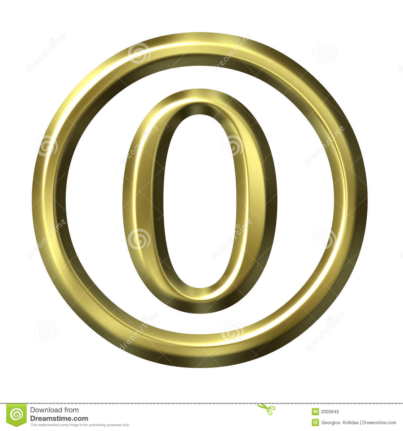 3d Golden Number 0 Stock Illustration  Illustration Of