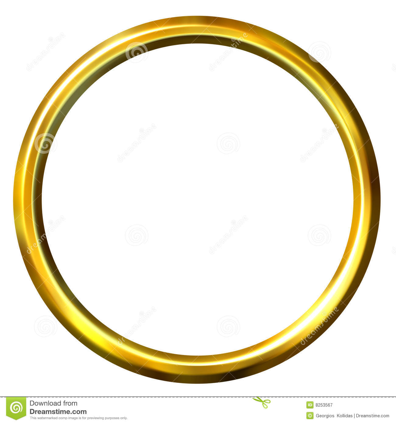 3D Golden Ring Royalty Free Stock Photography - Image: 8253567