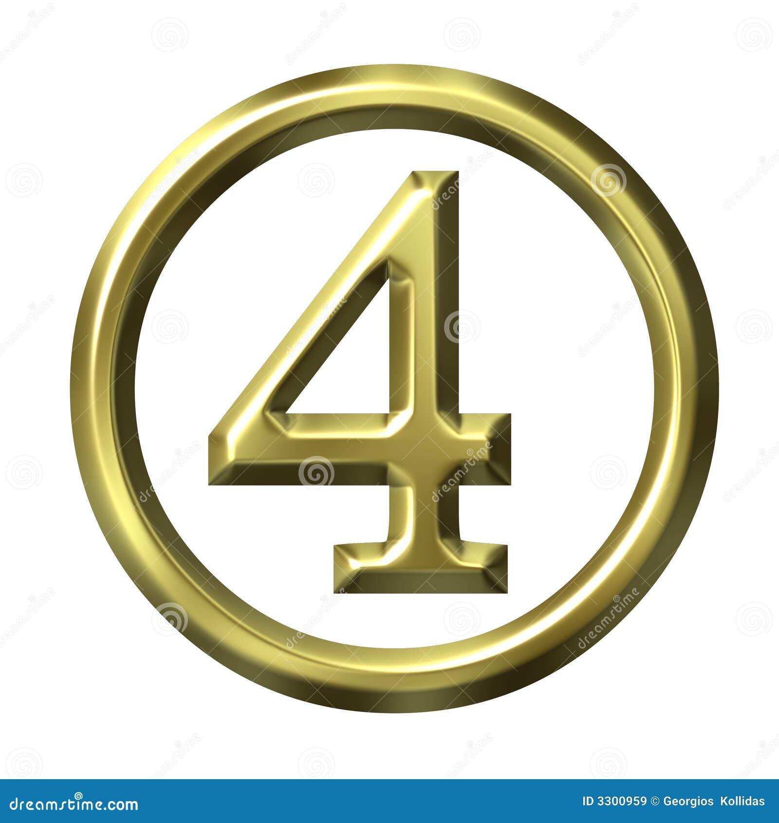 3d goldene zahl 4