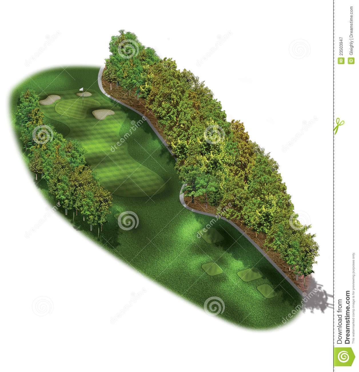 3d Golf Course Hole Layouts Stock Illustration Illustration Of Design Layout 23503947