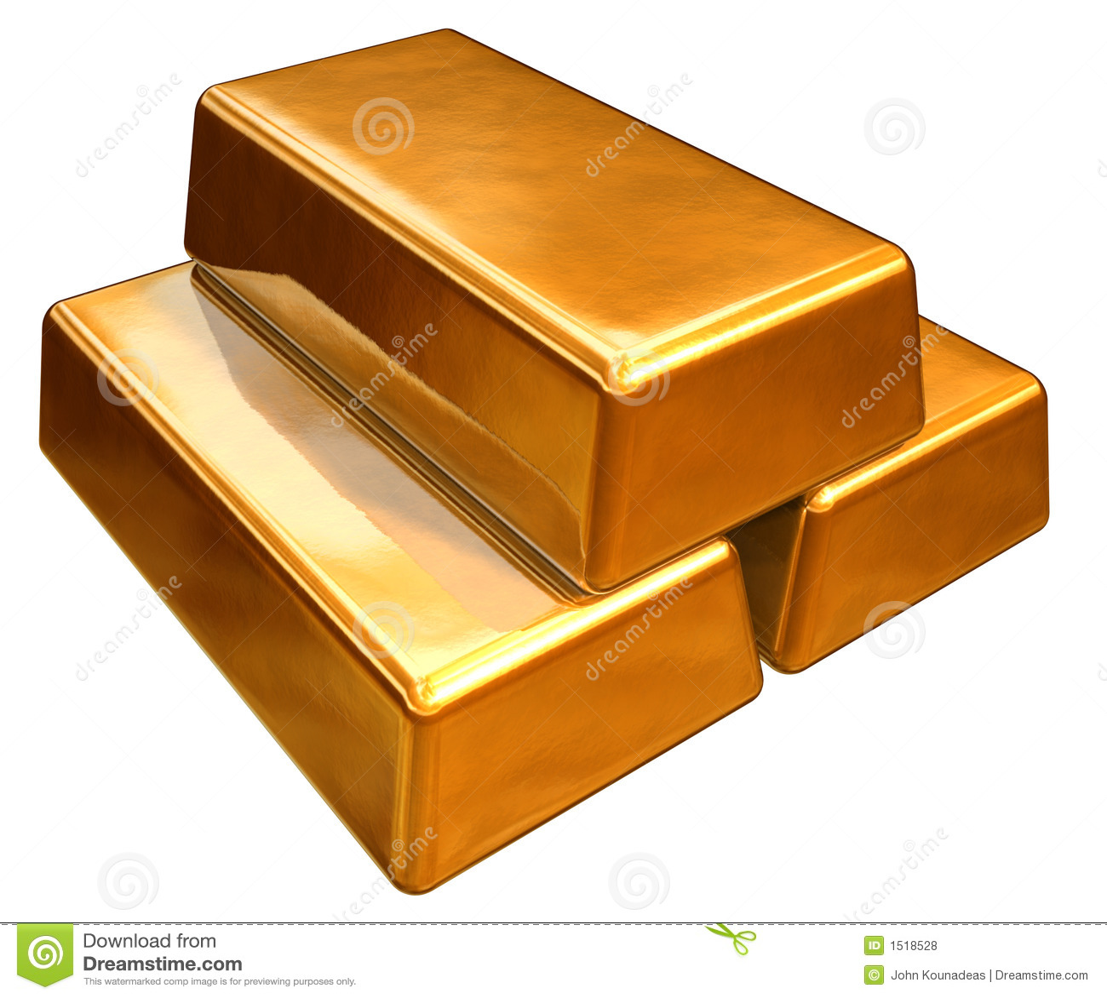 3d goudstaven