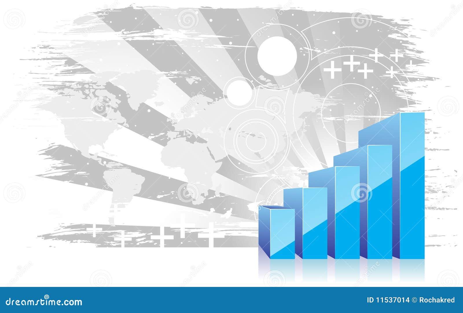 3d grafiek die stijging van winsten toont