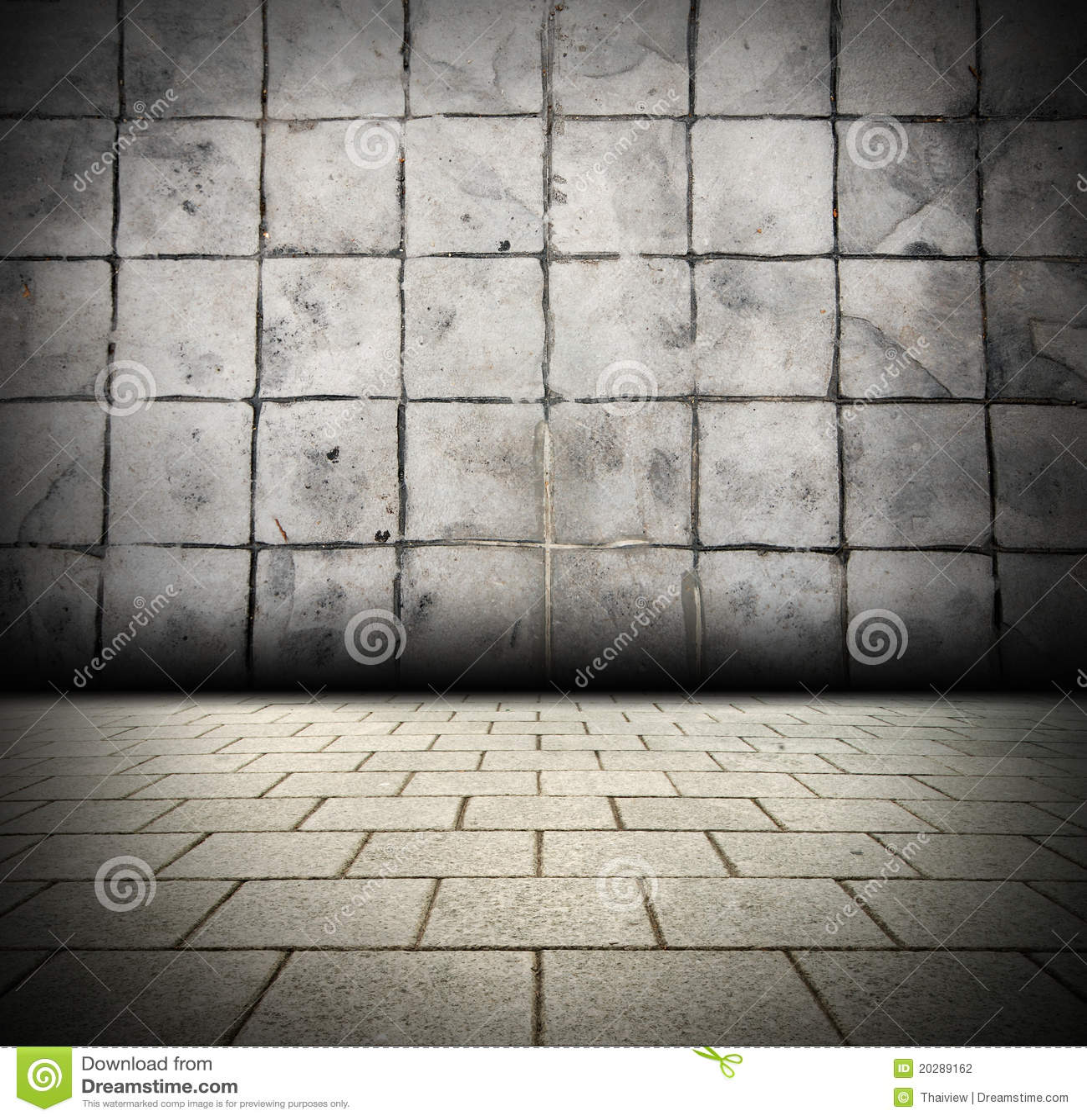 3d gray brick wall background beam light design te stock