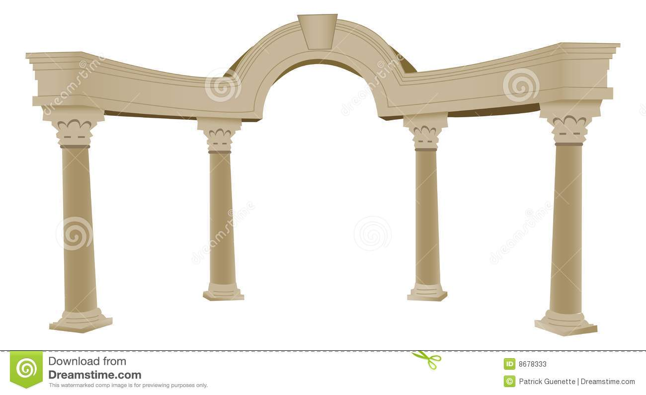 3d Greek Arch And Column Stock Vector Illustration Of