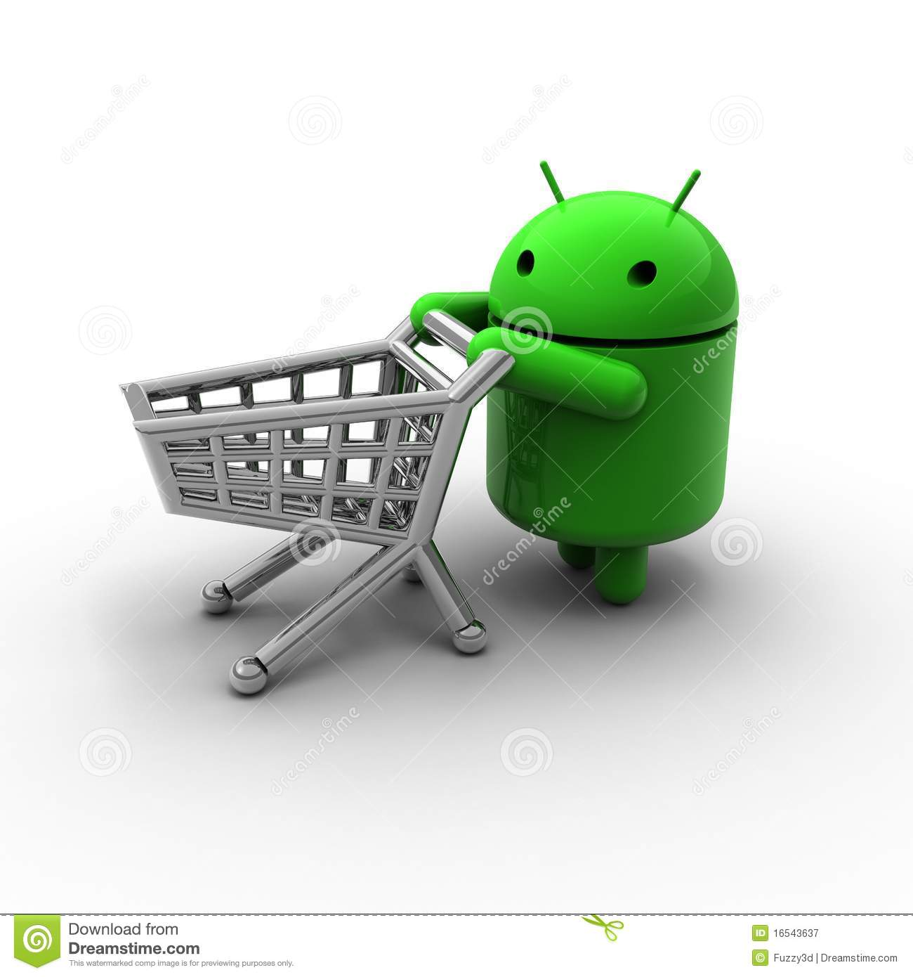 3d green android shopping caricature editorial photography for 3d kuchenplaner android