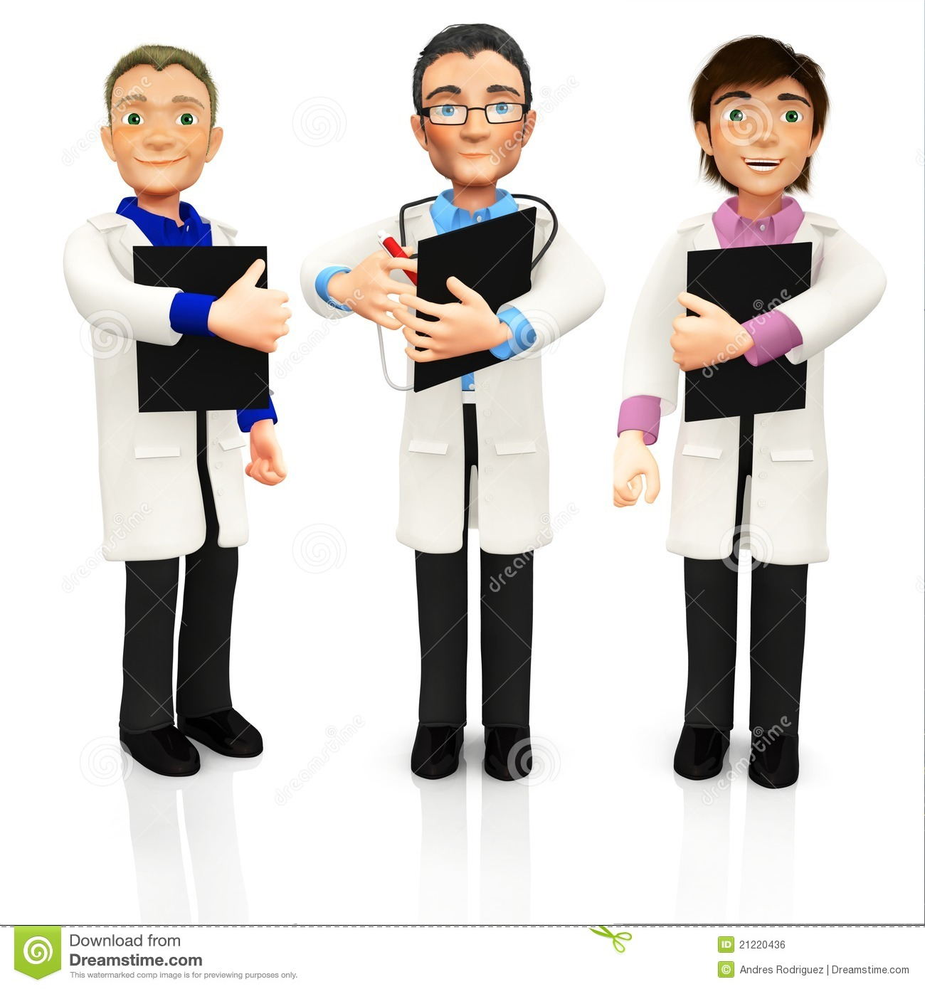 Group Of Doctors Clipart 3D Group Of Doctors Ro...