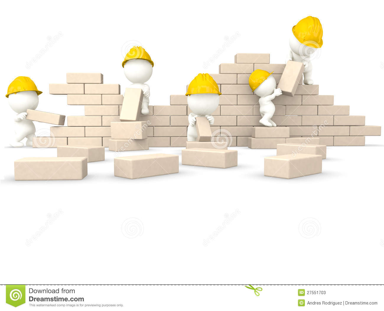 3d guys building a wall stock photos image 27551703 for 3d setup builder