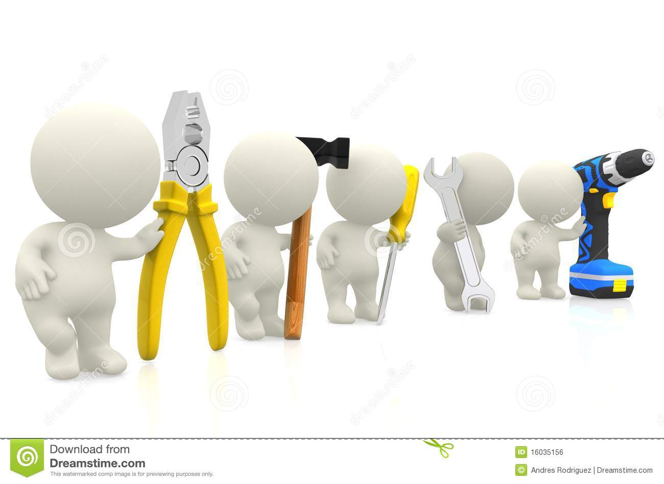 3d Guys With Tools Royalty Free Stock Image Image 16035156