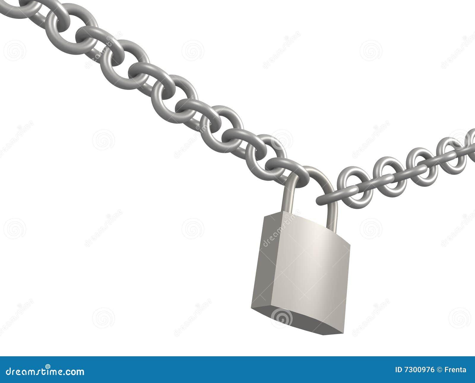 3d ha chiuso la serratura, appendente su un circuito