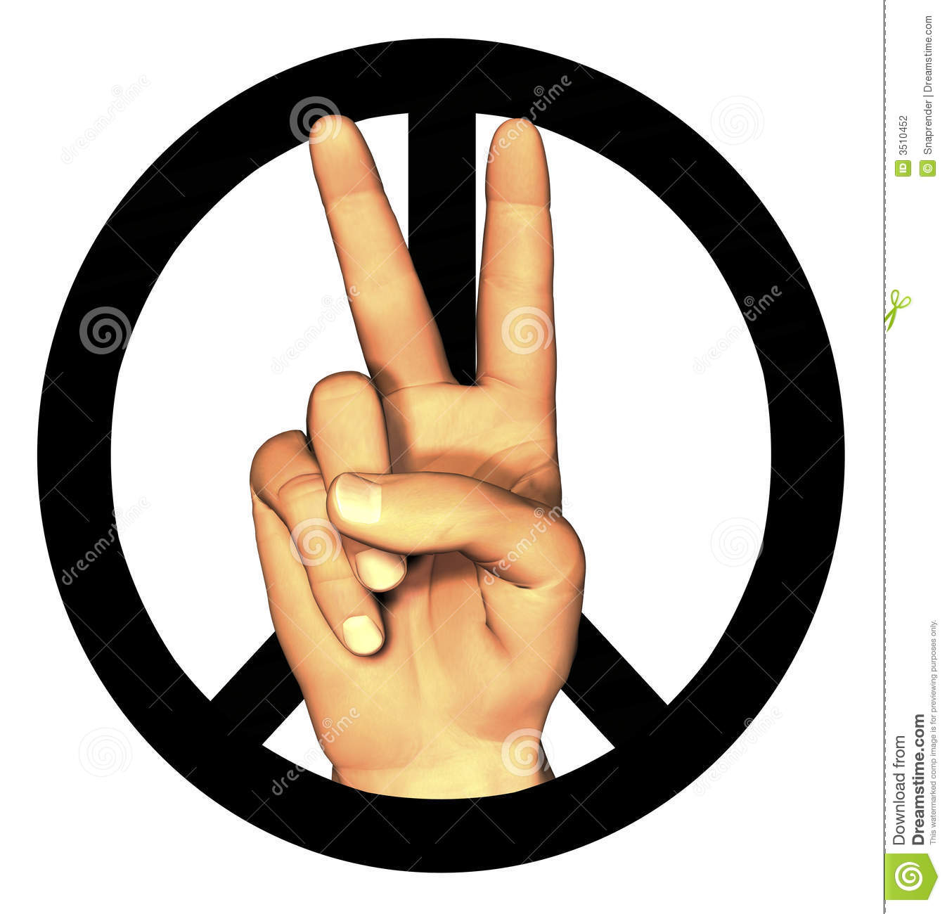 3d Hand Giving Peace Sign Stock Illustration Illustration Of Skin