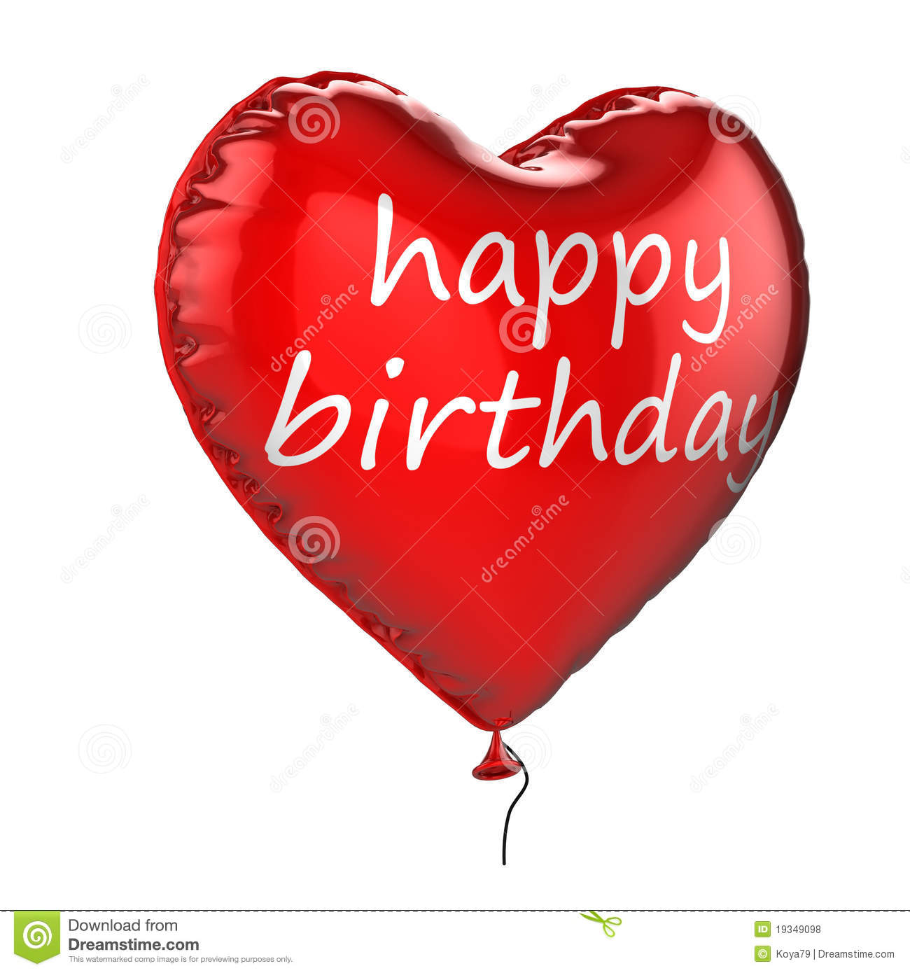 3D Happy Birthday Helium Balloon Royalty Free Stock Photos - Image ...