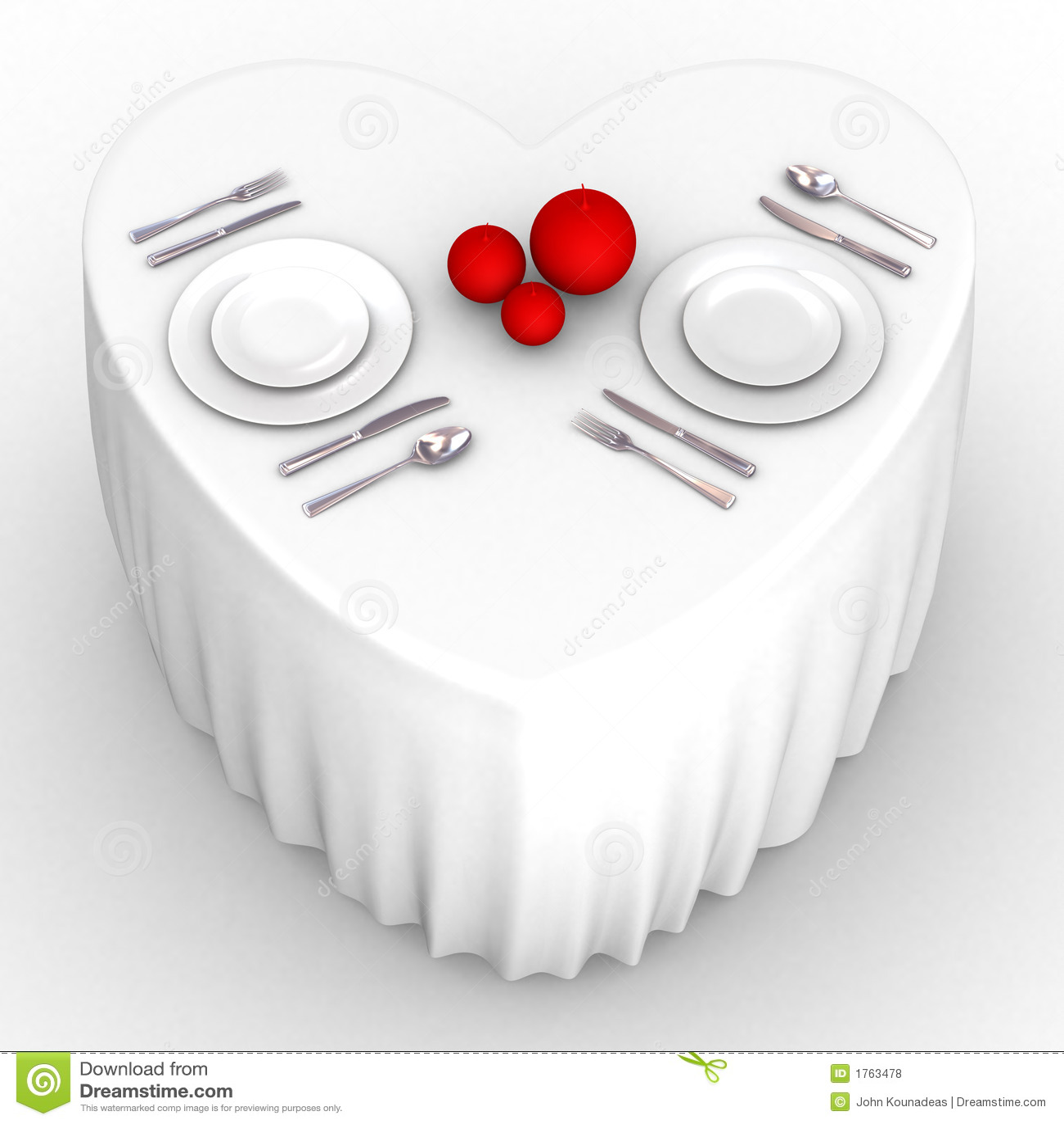 3d heart table