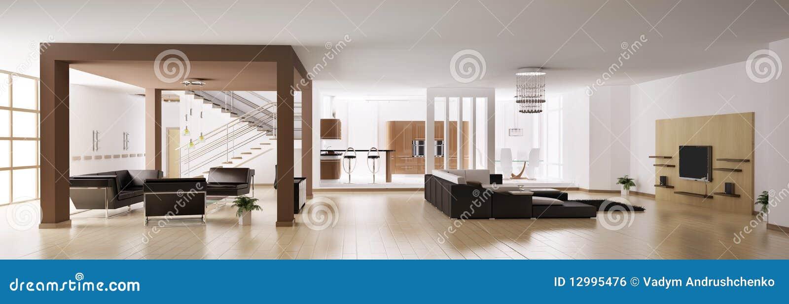 3d het panorama van de flat