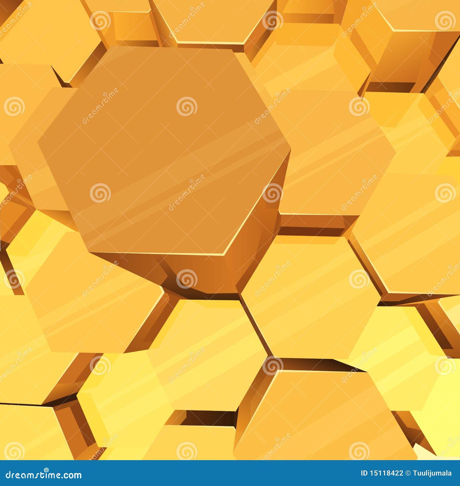 3D hexagons background