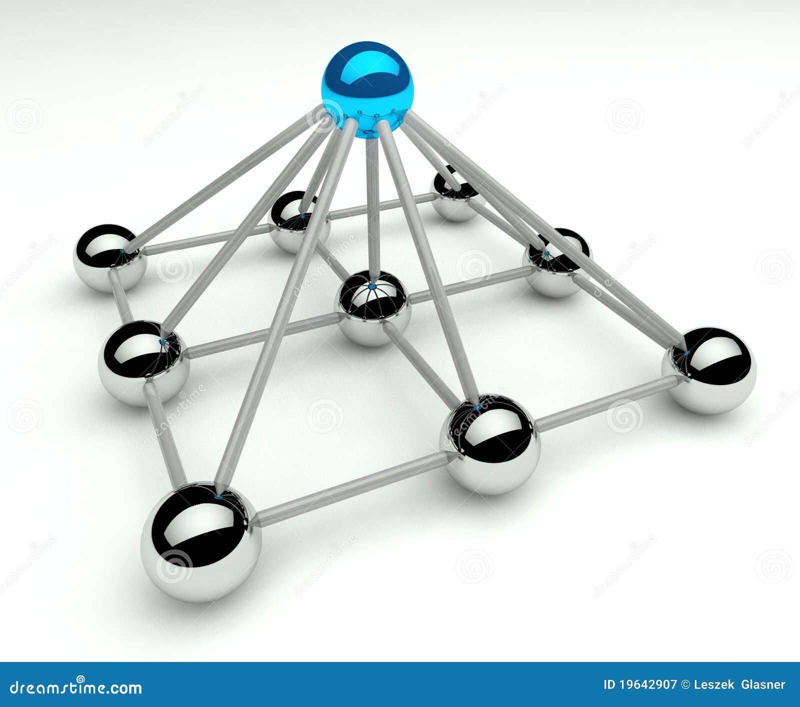 3d hierarchia zrównuje zarządzania piramid