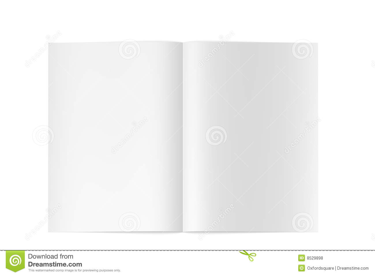 3d high quality blank magazine / book opened
