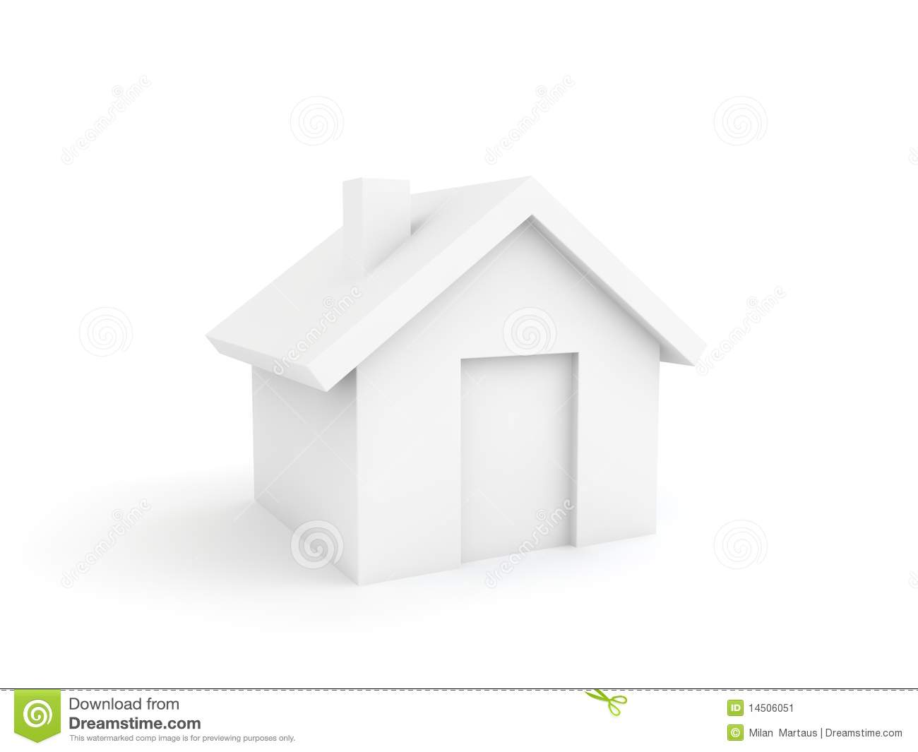 3d Home Icon Stock Image Image 14506051