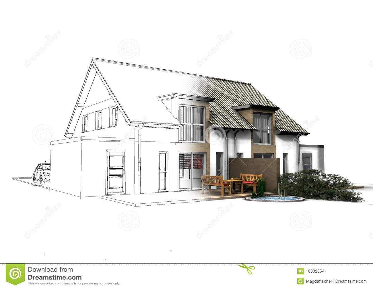 3d House Stock Images Image 18332054