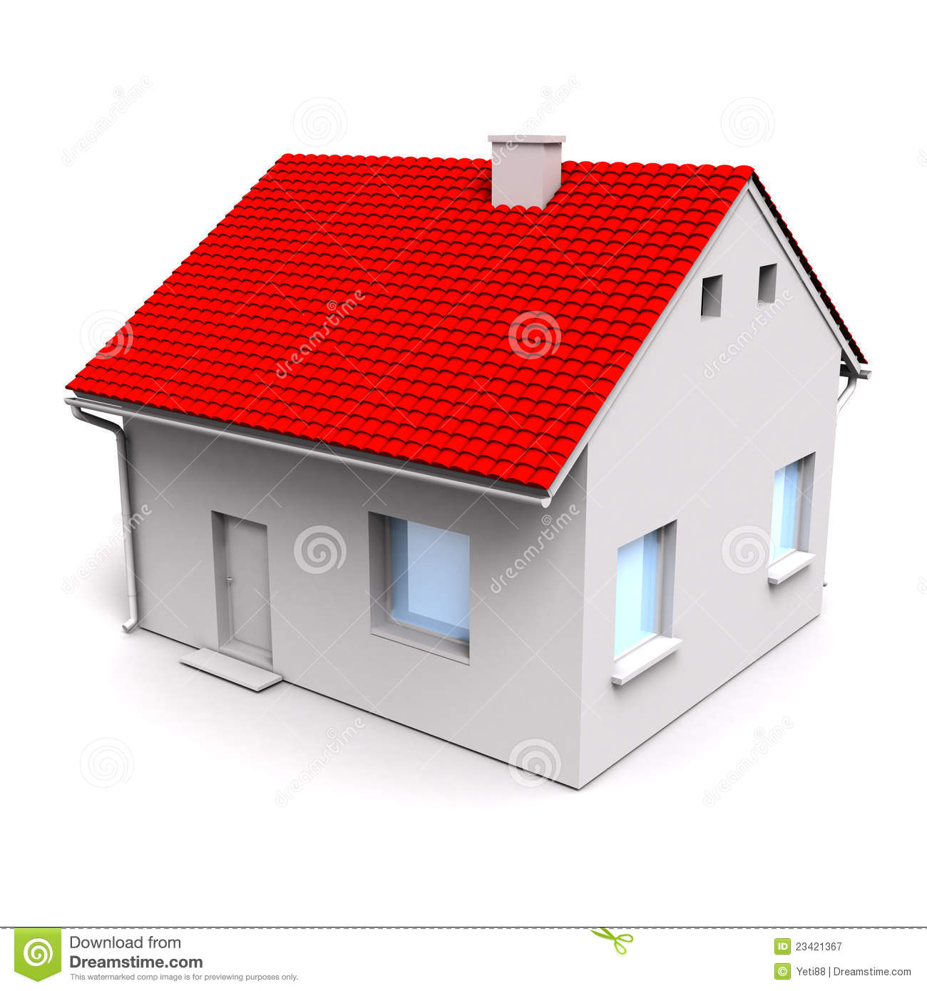 3d House Royalty Free Stock Photography Image 23421367