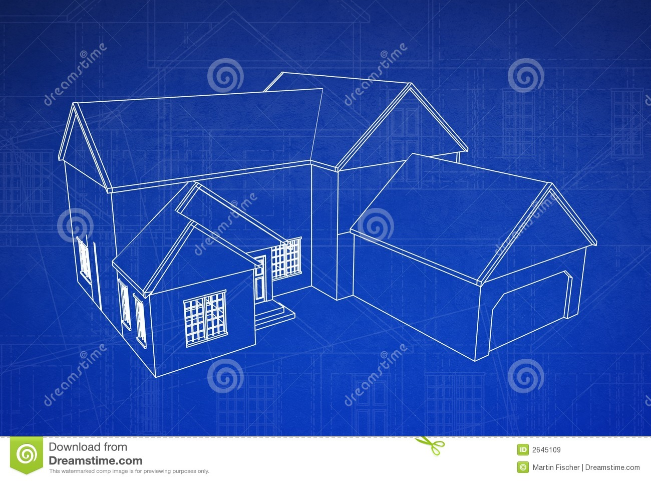 3d house blueprint royalty free stock images image 2645109 for Blueprint homes