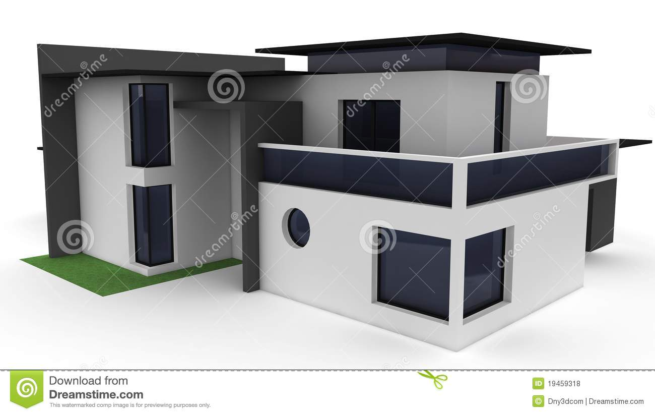 3d house isolated on white