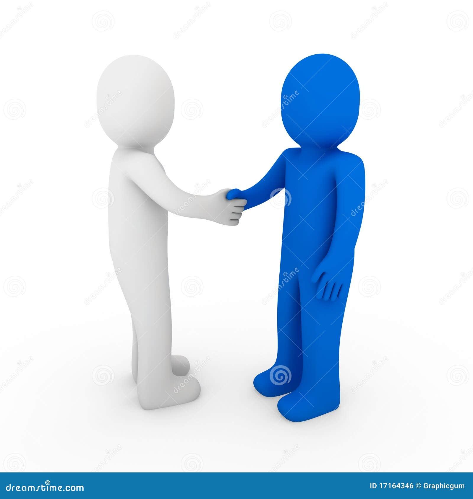 Human Business Handshake Stock Vector Teamwork Hands