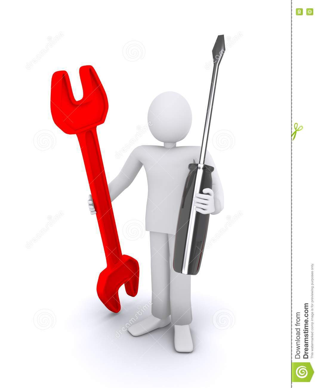 3d Human Holds Tools In Hands Stock Images Image 22478524