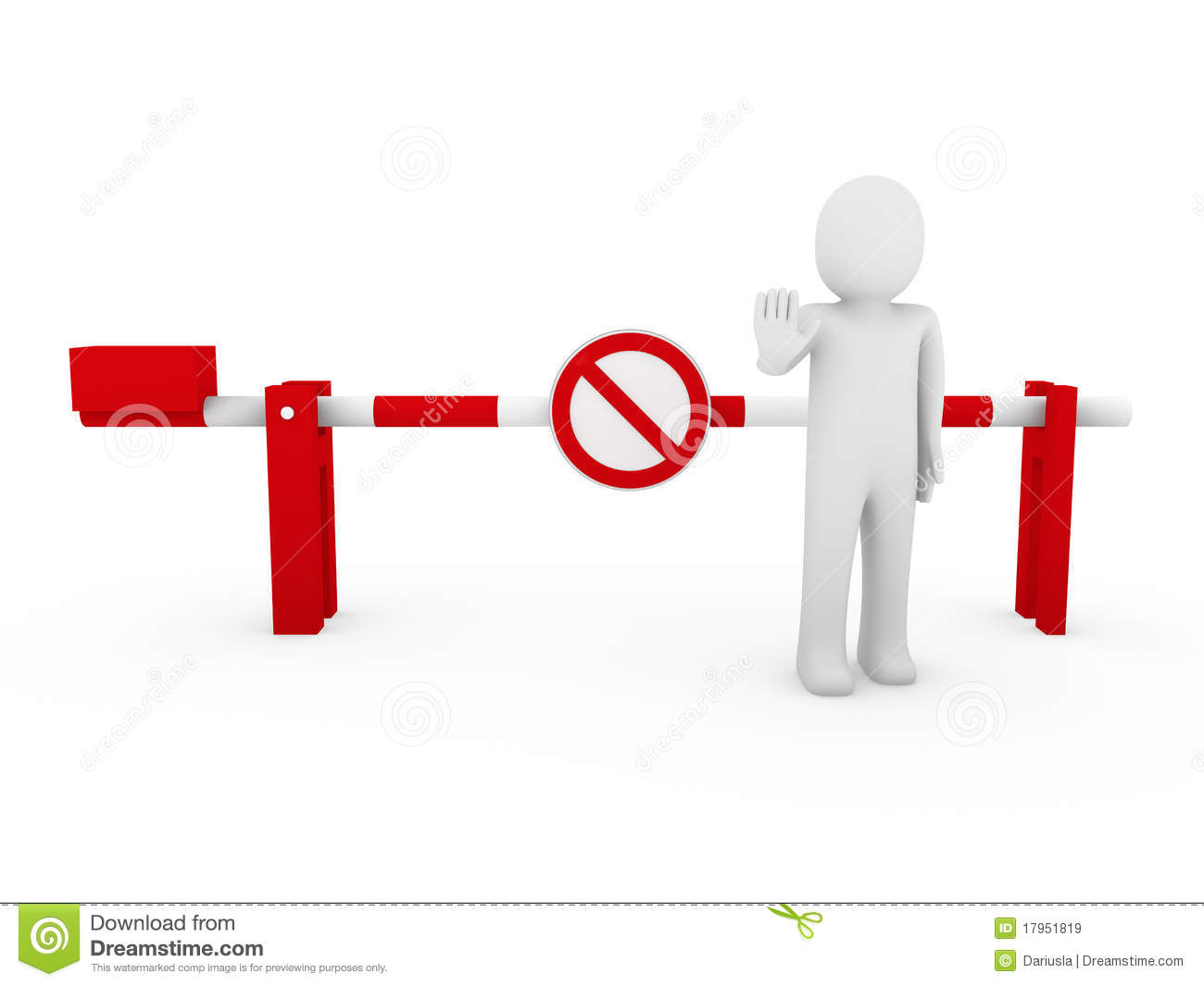 ... Human Stop Barrier Red Ban Royalty Free Stock Images - Image: 17951819: dreamstime.com/royalty-free-stock-images-3d-human-stop-barrier-red...