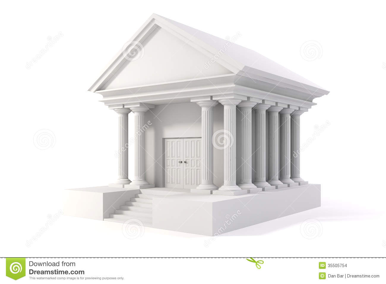Bank building 3d icon royalty free stock image for Build house online 3d free