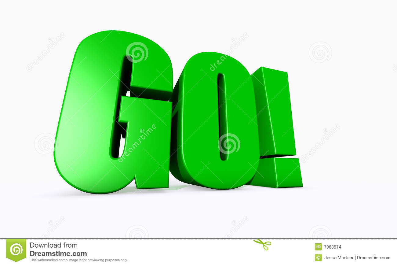 3d Illustrated Word Go Stock Images Image 7968574