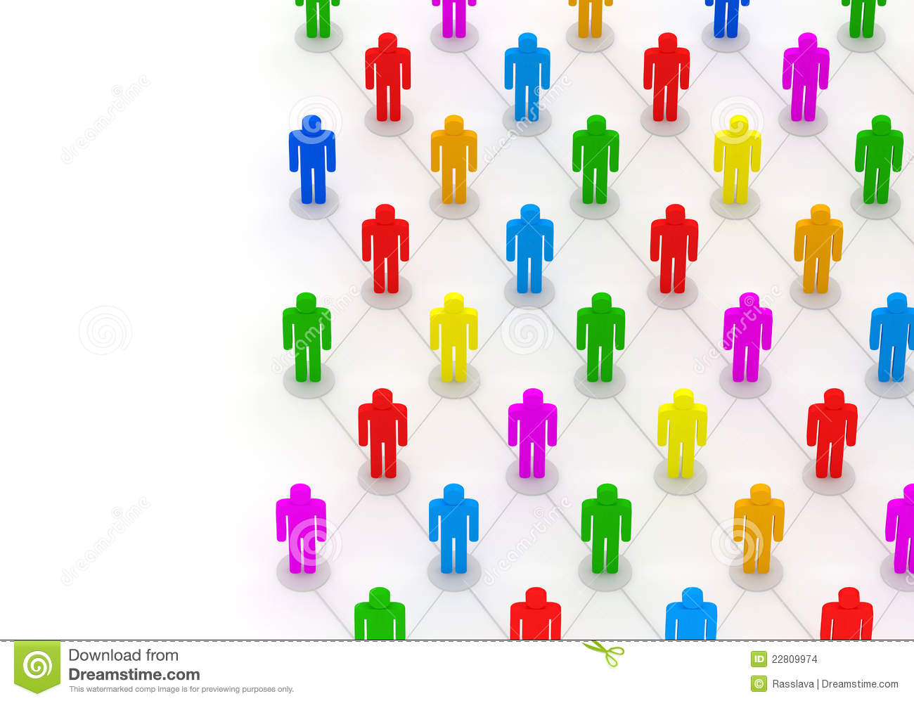 3d Illustration Of Colorful People Network Stock Images ... Colorful People