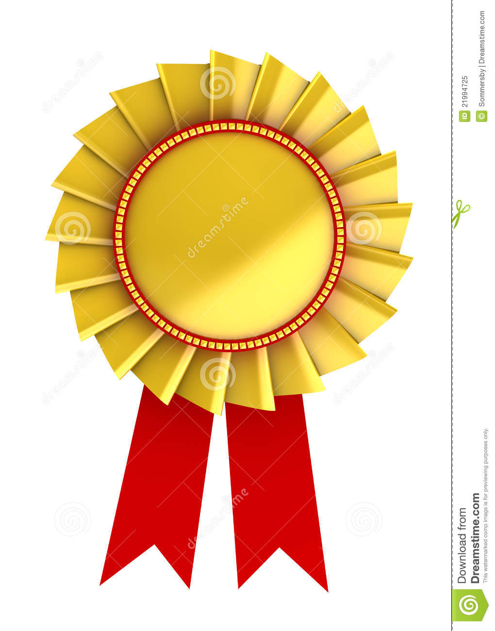 3d Illustration Of Golden Award Royalty Free Stock Photo