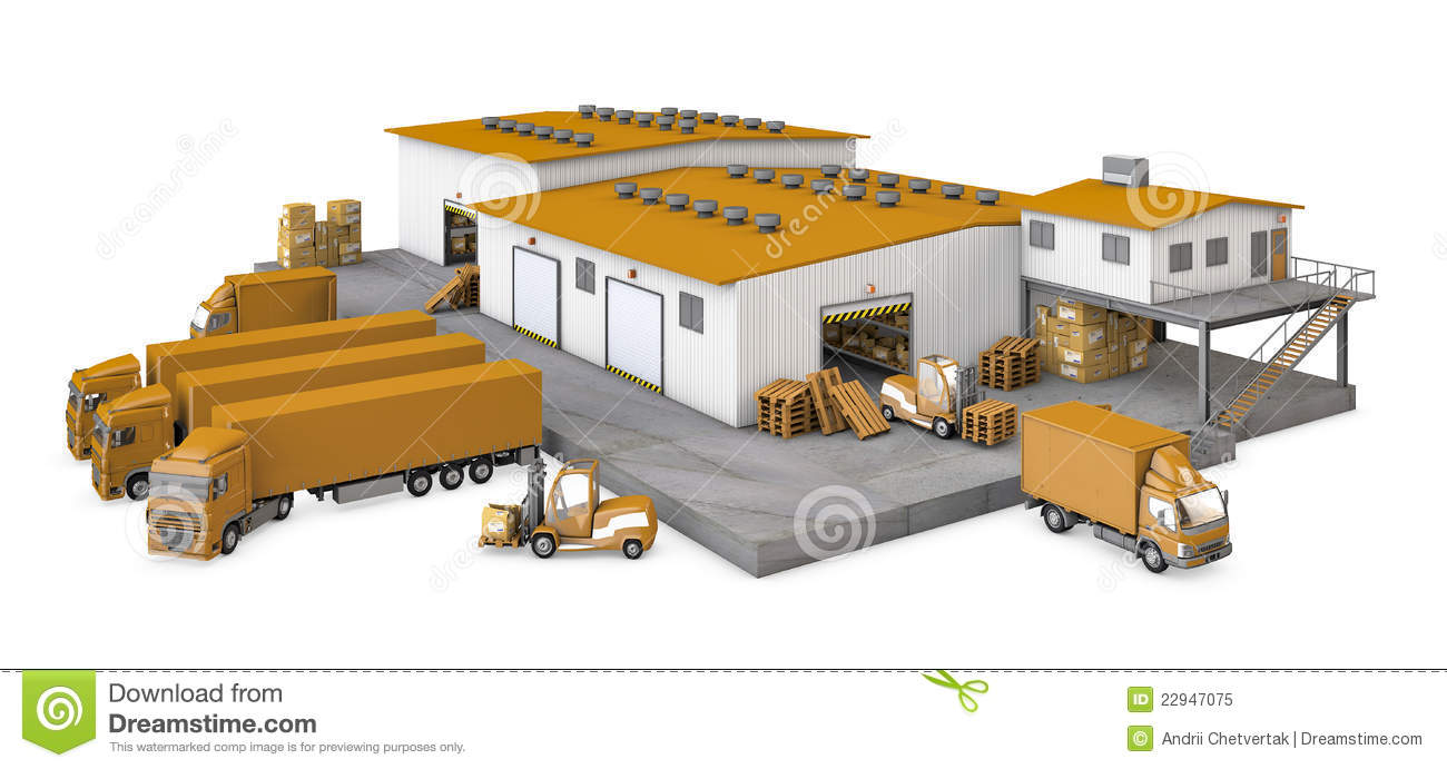 Royalty Free Stock Photo 3d Illustration Infrastructure Warehouse T Image22947075 on industrial building plans