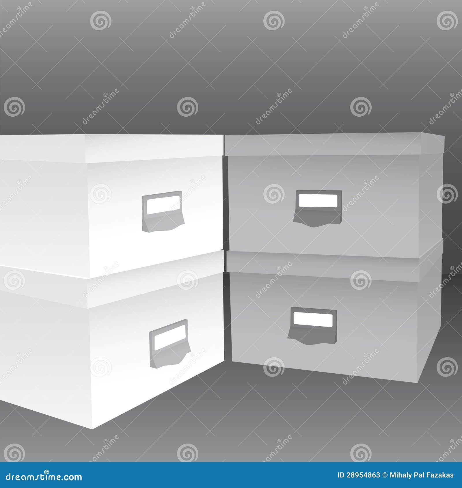 3d ilustracja zamknięci pudełka