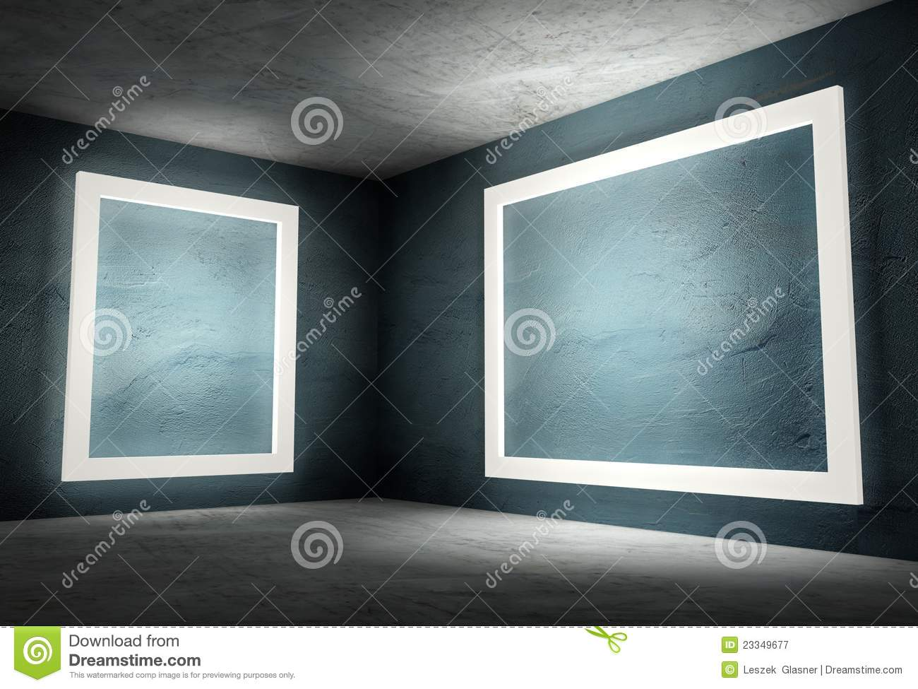 3d Empty Frames In Interior Stock Images - Image: 24119044