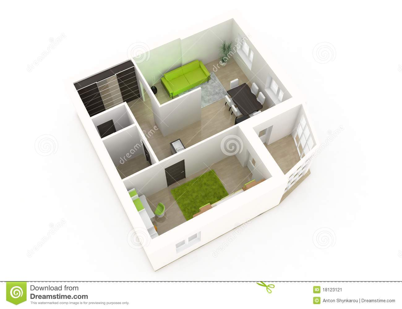 3d Interior Design Stock Image - Image: 18123121 - ^