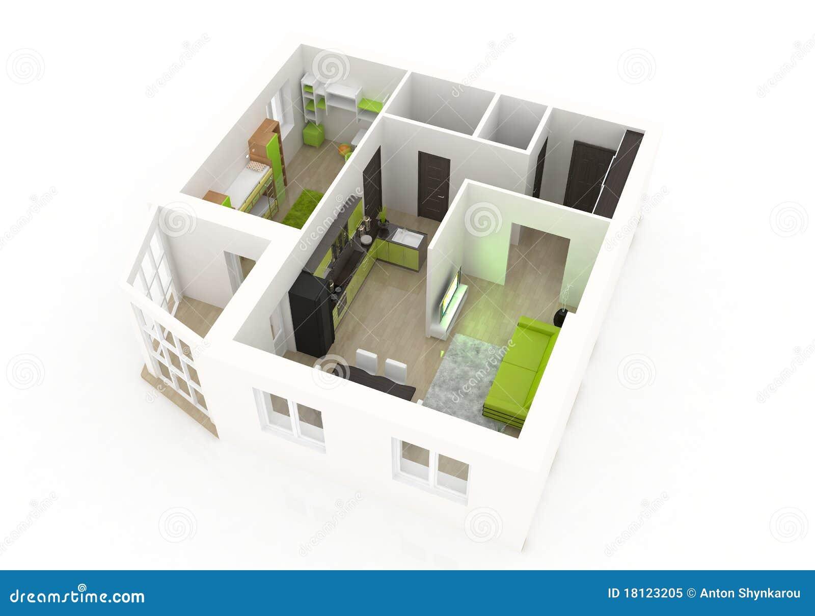3d interior design royalty free stock photo - image: 18123205, Innenarchitektur ideen