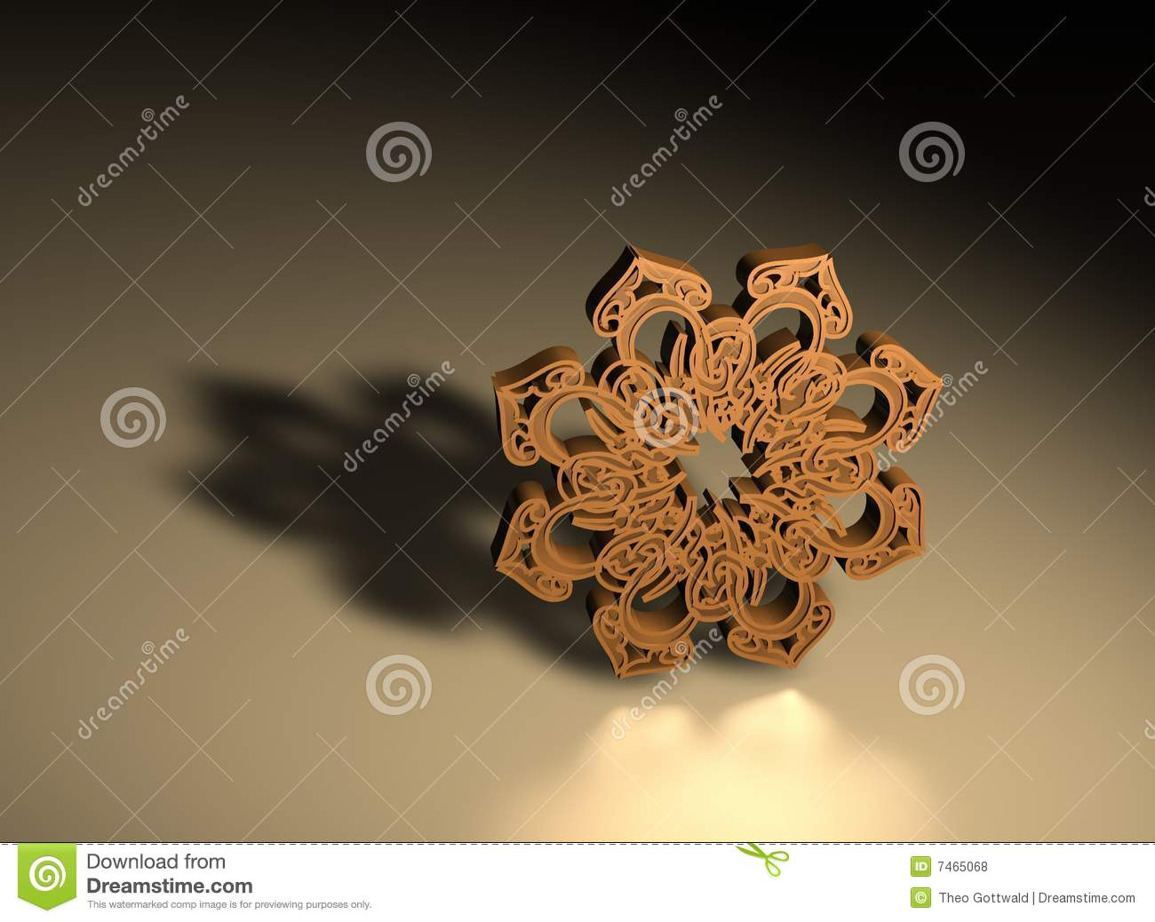 3D Islamic Prayer Symbol Stock Illustration. Image Of