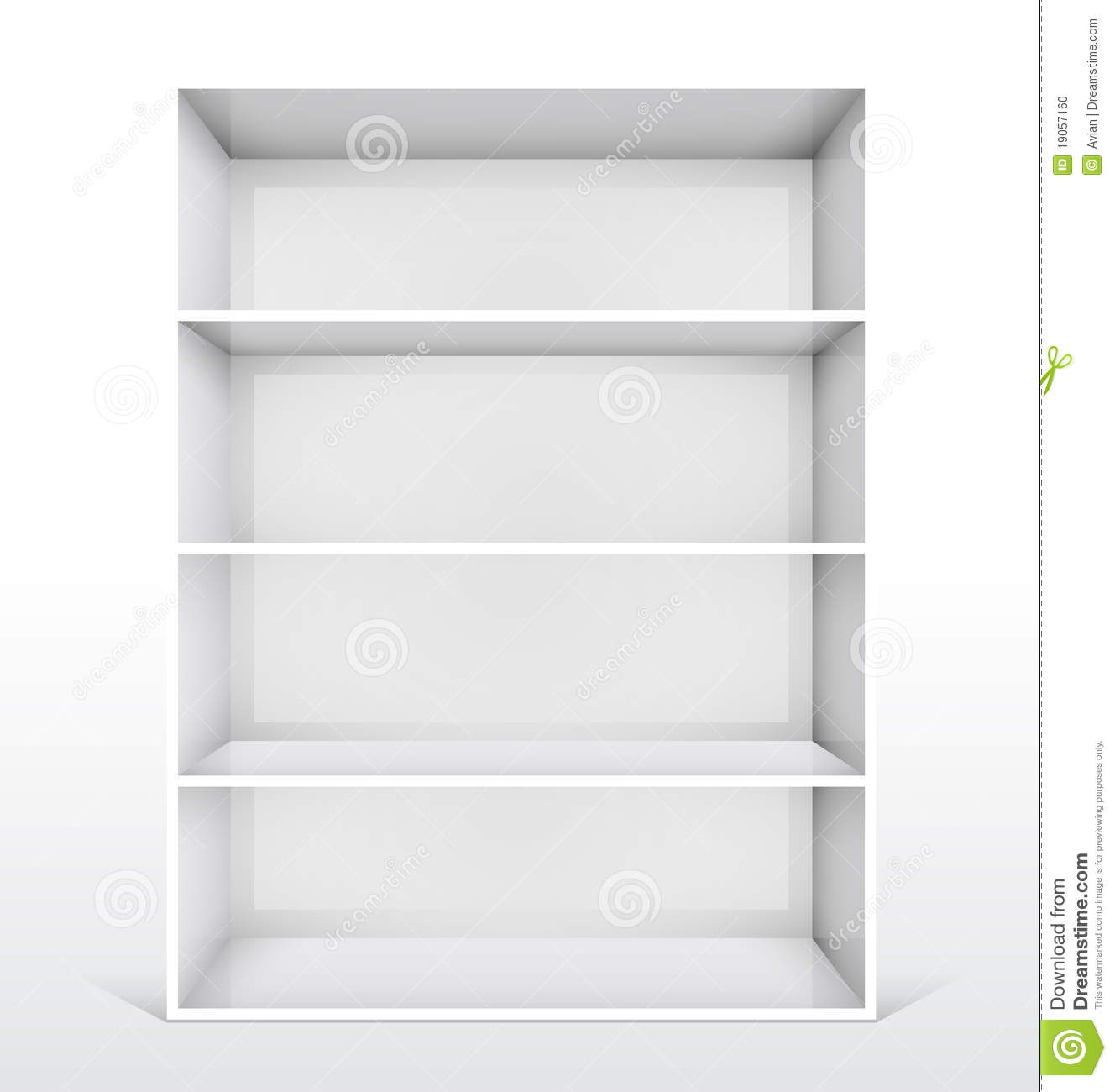 d isolated empty white bookshelf stock photo  image  - bookshelf empty illustration isolated white