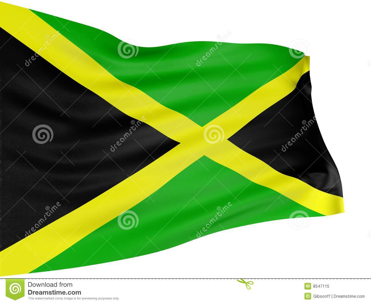 3d Jamaican Flag Royalty Free Stock Photo Image 8547115