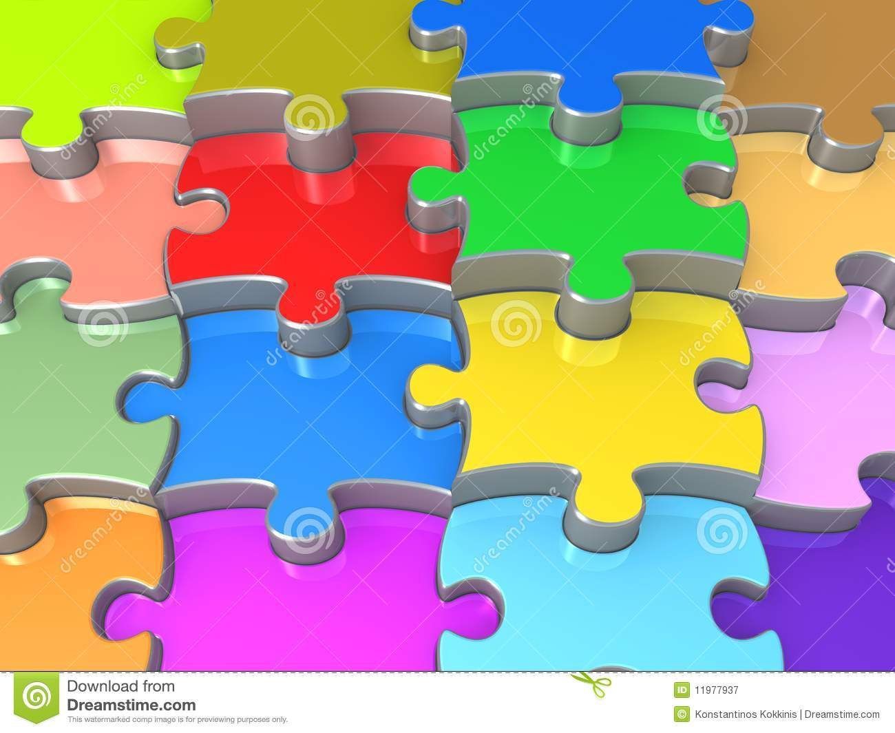 Download 3D Jigsaw Puzzle Stock Illustration Of Color