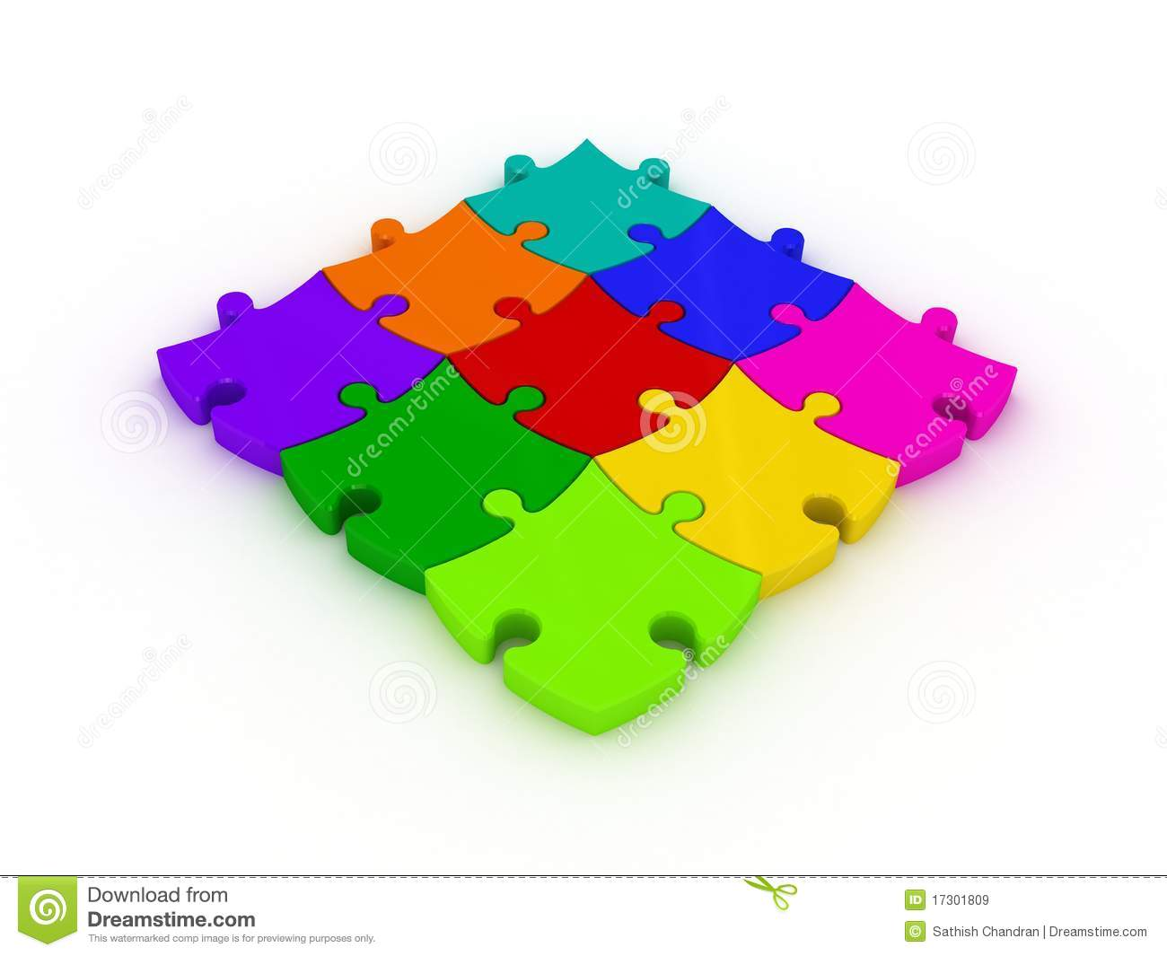 3d jigsaws royalty free stock images image 17301809 for Disegno 3d free