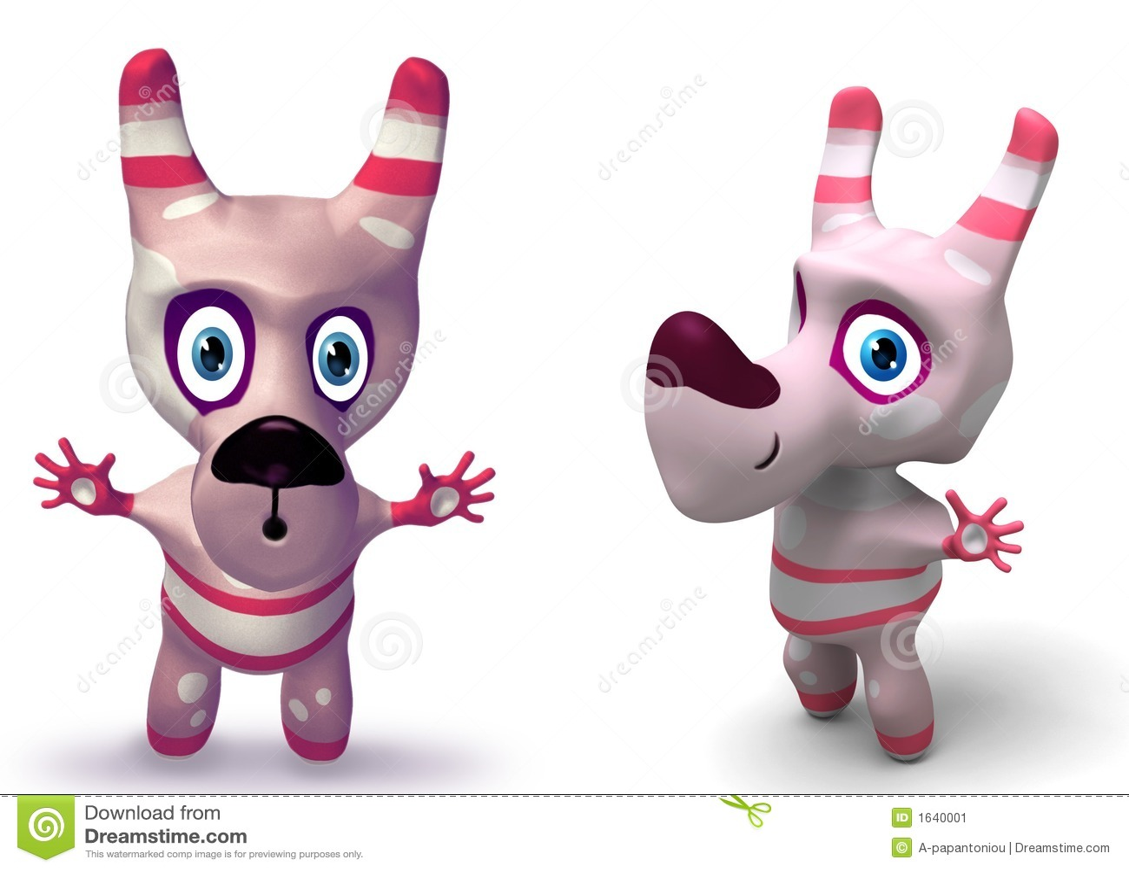 3D Karakter van de Hond van het Stuk speelgoed