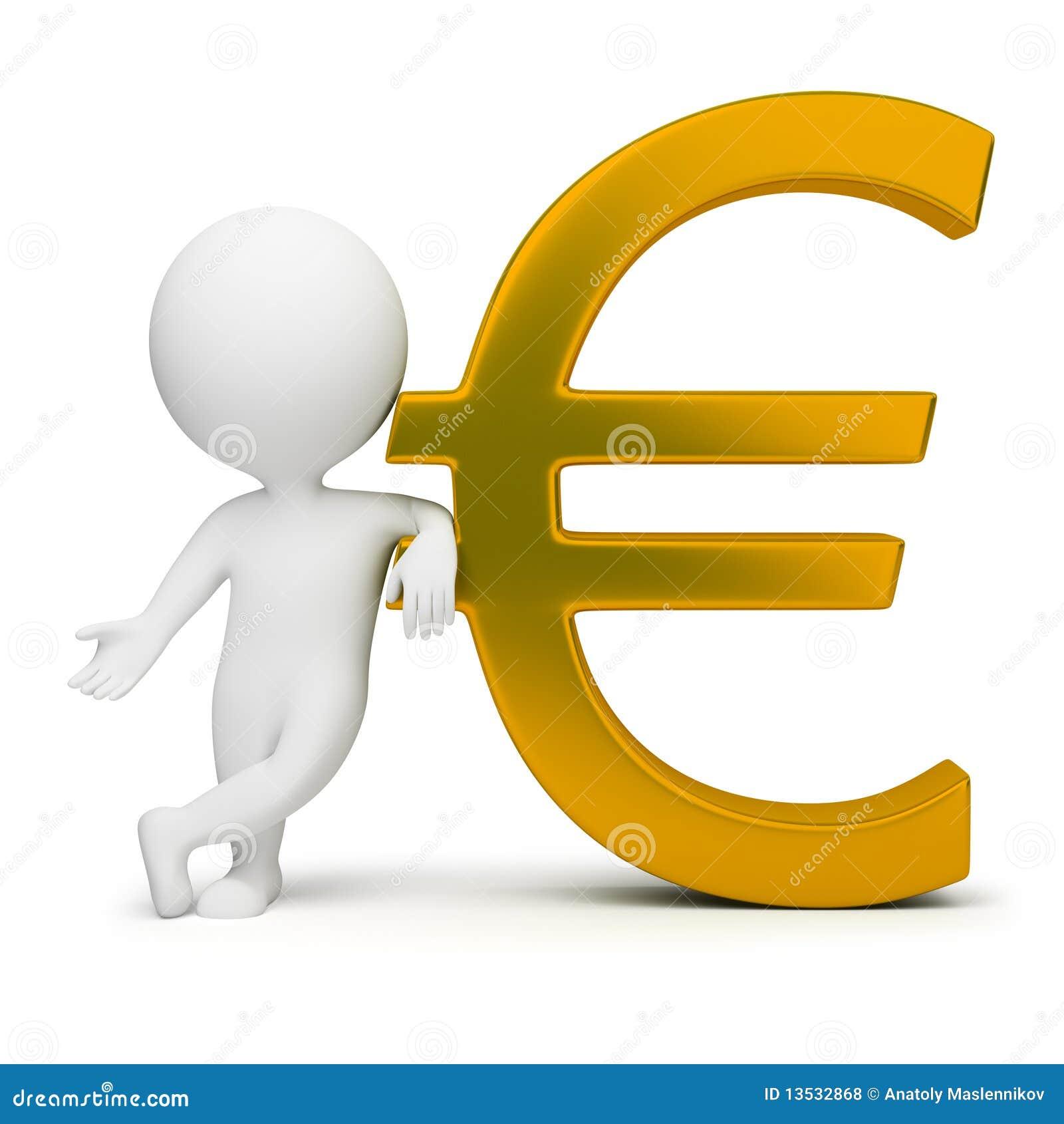 3d Kleine Mensen - Euro Teken Royalty-vrije Stock Foto's - Afbeelding ...